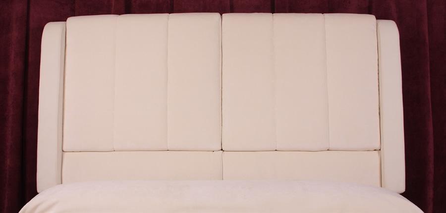 Amiens.- Cabecero diseñado con cojines acolchados y desenfundables.