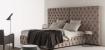 Cabecero capitoné y camas tapizadas