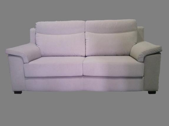 Sofá moderno de dos plazas tapizado en Rustika